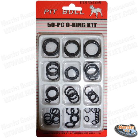 50pc Rubber O Ring Set Assortment Plumbing Hydraulic Air Gas ...