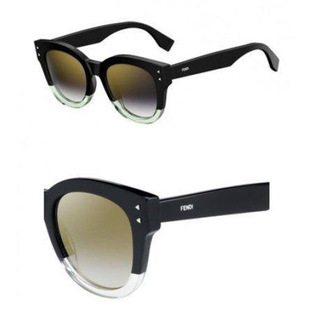 Sunglasses Fendi Ff 239 /S 071C Black Yellow / FQ gray sf gold sp lens San Francisco 49ers Sunglasses