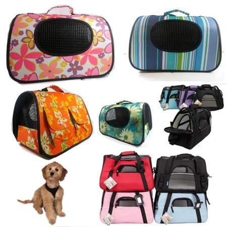 Portable Pet Carrier Dog Cat Tote Crate House Kennel Cage Travel Bag Purse Light Cat Travel Cage
