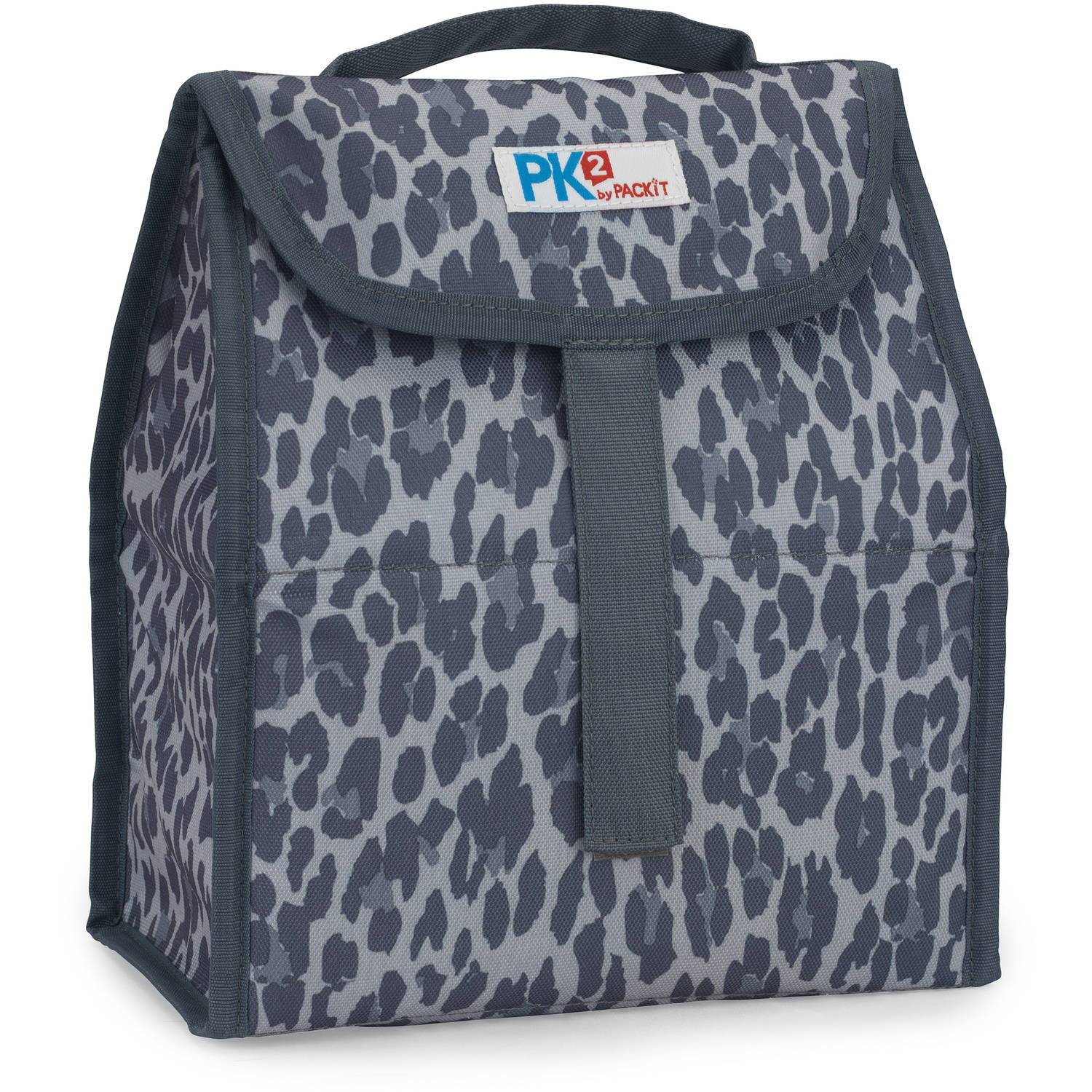PackIt PK2 Lunch Sack, Cheetah Gray