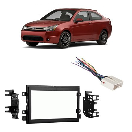 Fits Ford Focus 2005-2007 Double DIN Stereo Harness Radio Install Dash (Ford Focus Mk1 Double Din Fitting Kit)