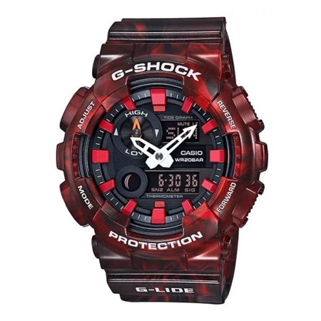 Casio GAX100MB-4A Men's Tide Graph Thermometer Marble Red Glide G Shock Watch ()