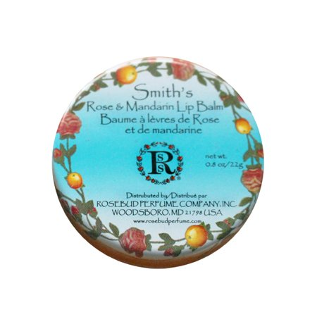 Rosebud Perfume Co. Smith's Rose & Mandarin Lip Balm, 0.8 oz.