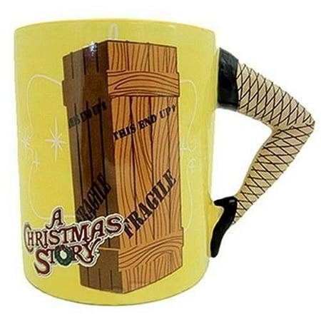 A Christmas Story Sculpted Leg Lamp Coffee Mug (Christmas Mugs)