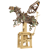 3D Wood Craft Pegasus of the Machine Age Kit - 100+ Pieces of Pine Wood