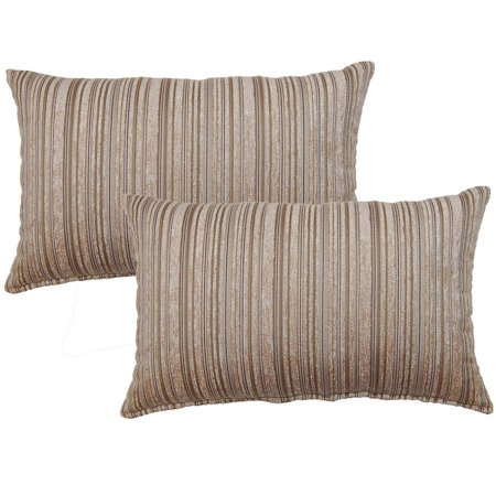 FHT Dutton Taupe Decorative Throw Pillow (Set of 2) ()