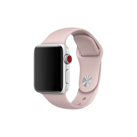 Apple Watch Series 1, 2, & 3 Silicone Sports Band 38mm, Pink Sand (Refurbished)