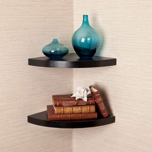 Danya B XF11115-2 Decorative Radial Corner Shelves - Set of 2