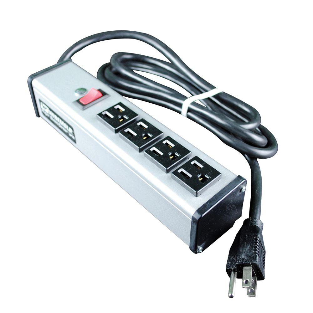 Wiremold 15 ft. 4-Outlet Compact Power Strip with Lighted On/Off Switch