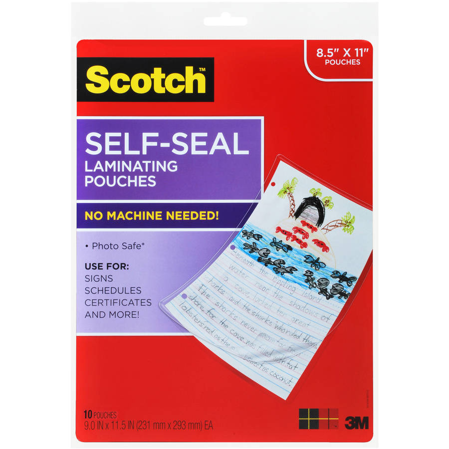 Scotch Self Laminating Sheets, 10pk
