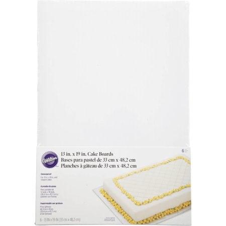 Wilton Cake Board/ Platter, 19 x 13 in. Rectangle, 6 ct. ()