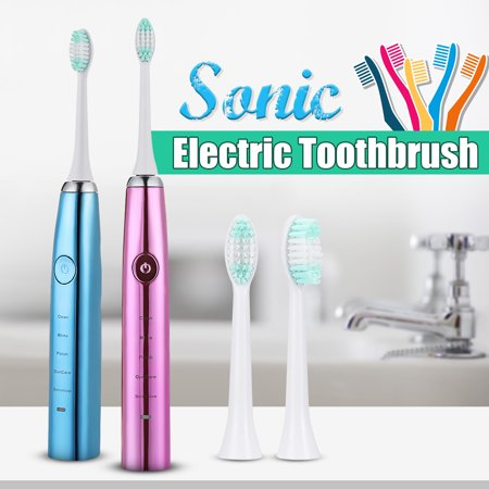 5 Cleaning Modes Adult Portable Sonic Electric Toothbrush USB Charging Power Tooth Brush With 2 Brush