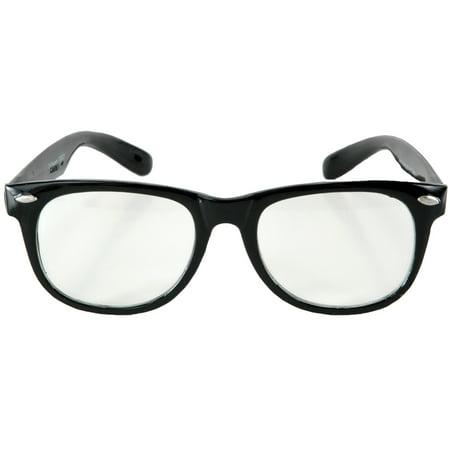 Black/Clear Glasses Blues Adult Halloween Accessory - Post Halloween Blues