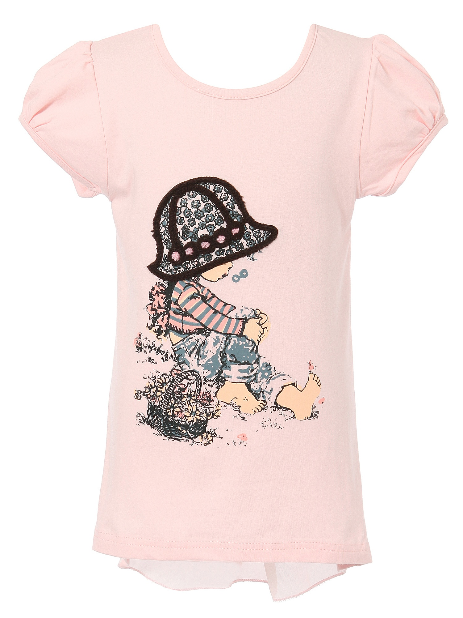 Richie House Girls' Short Sleeve T-Shirt with Girl RH1888
