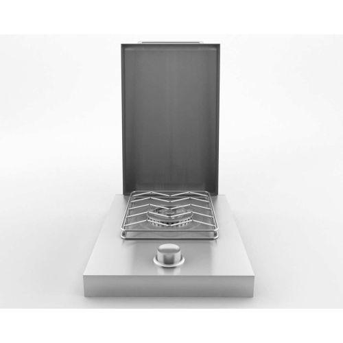 Stainless Steel 12,000 BTU Single Drop-In Side Burner - P...
