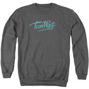 Teen Wolf Neon Logo Mens Crewneck Sweatshirt