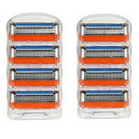 8Pcs Shaver Blade Shaving Fusion Razor Blades Cartridges Men Care 5-layer