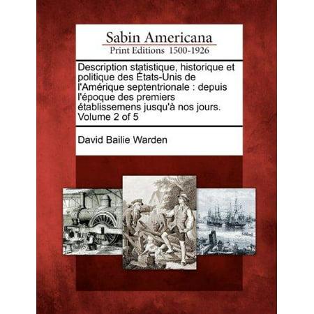 Description Statistique, Historique Et Politique Des Tats-Unis de L'Am Rique Septentrionale - image 1 of 1