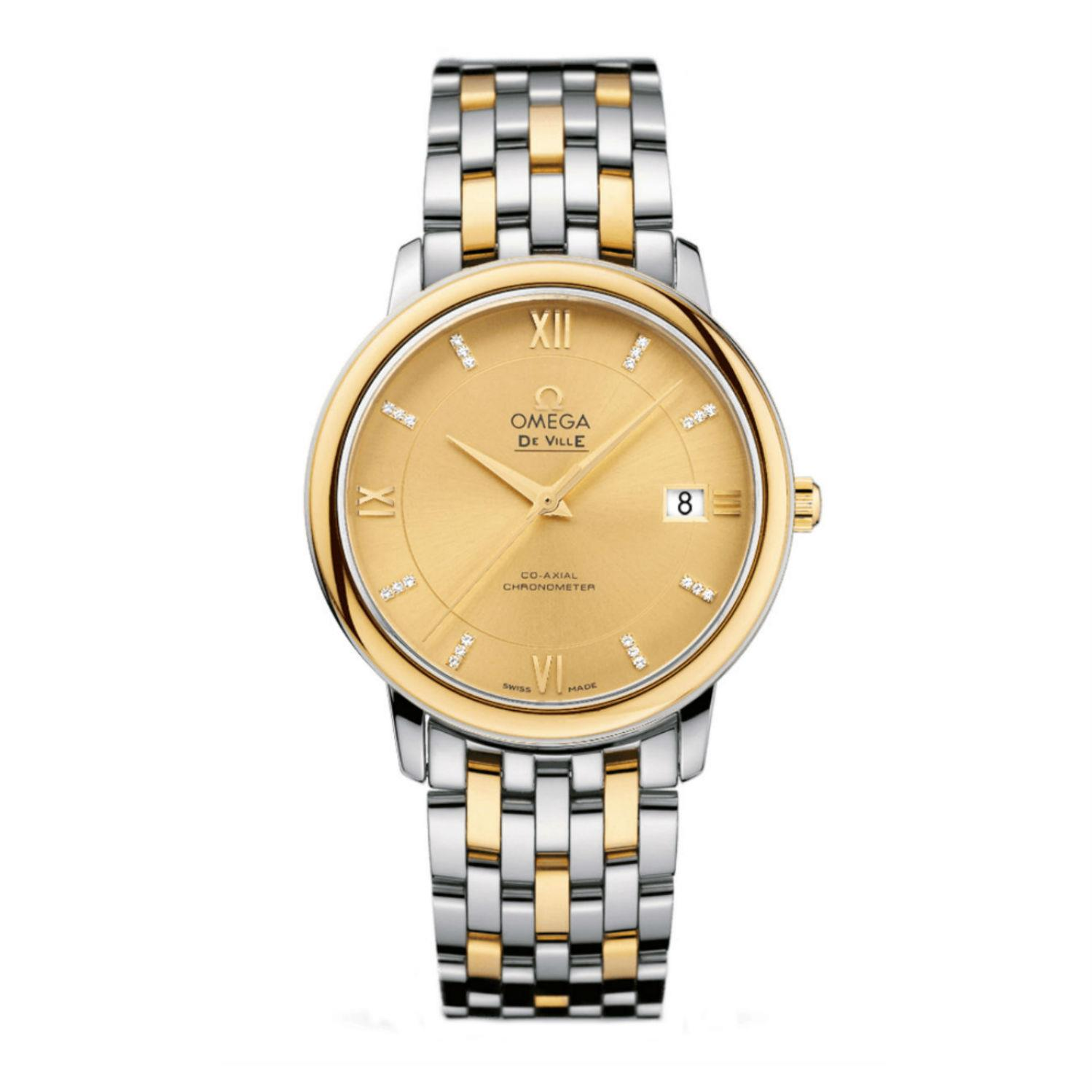 Omega Men's 36mm Two Tone 18K Gold and Steel Bracelet Ste...