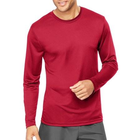 e9fc5556 Hanes - Sport Mens Cool DRI Performance Long Sleeve Tshirt (50+ UPF) -  Walmart.com