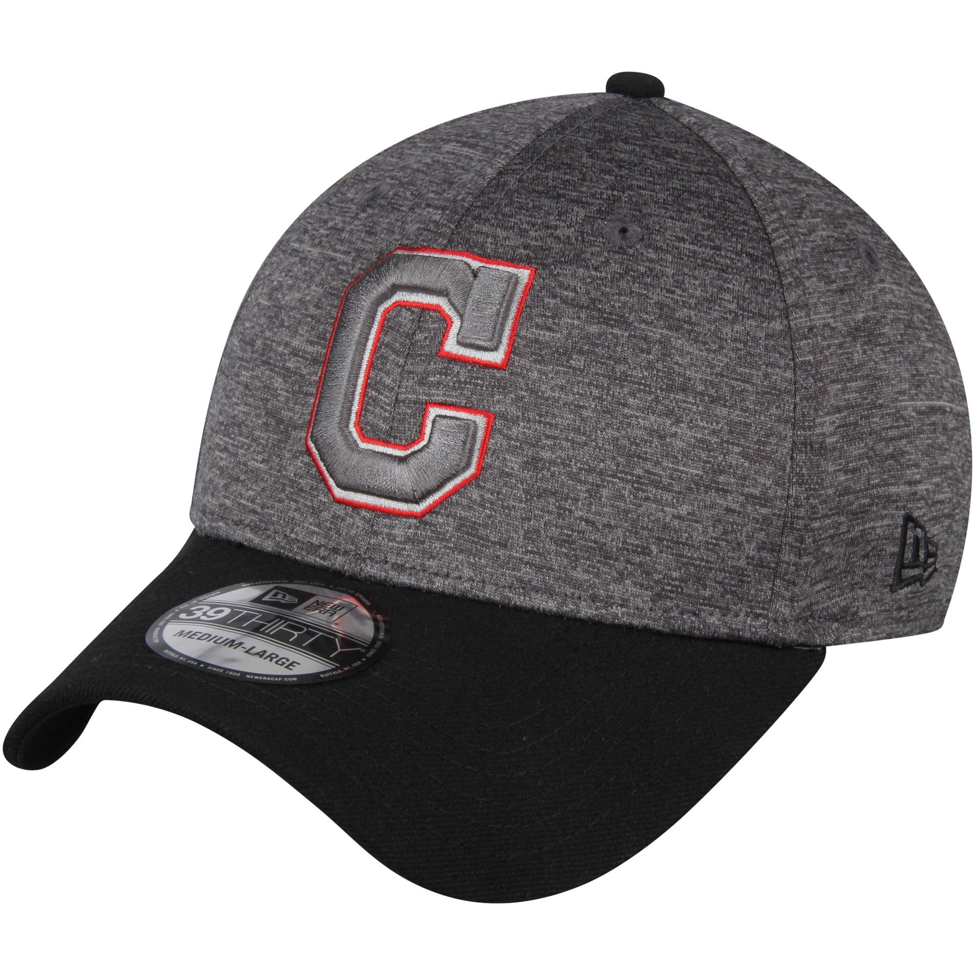 Cleveland Indians New Era 39THIRTY Shadow Tech Color Pop Flex Hat - Heathered Gray/Black