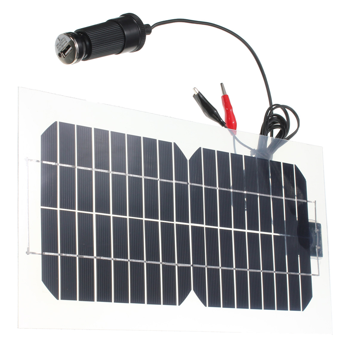 Mohoo 18v 5.5w Transparent Monocrystalline Solar Charger Solar Cell Panel With USB Solar Battery Charger by