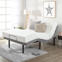 Mellow Adjustable Bed Base Unique Added Head Tilt/Wireless Remote Control, Multiple Sizes