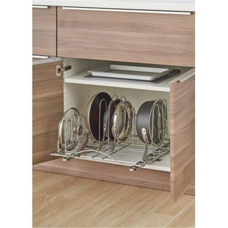 Sliding Pot Organizer, Chrome Sliding Rackmount Shelf