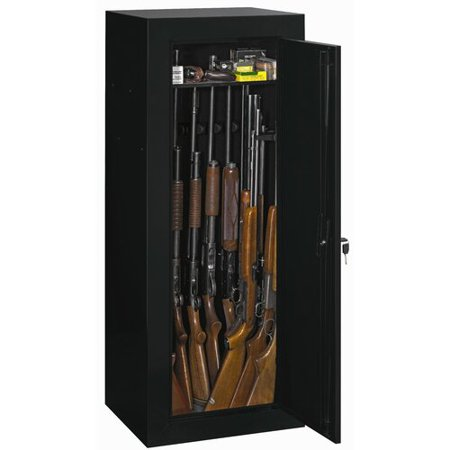 Stack-On Convertible 18-Gun Cabinet, Black Cabinet Height Trophy Case