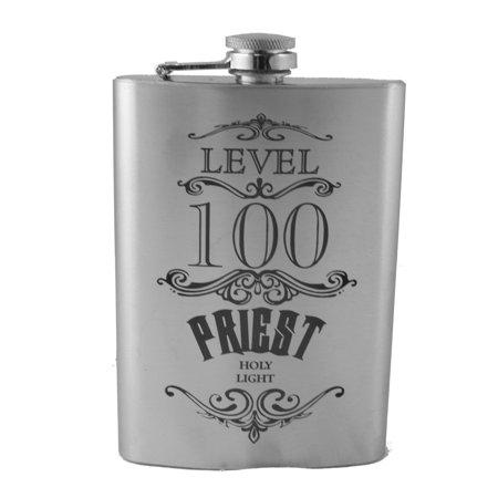 8oz wow level 100 priest flask L1