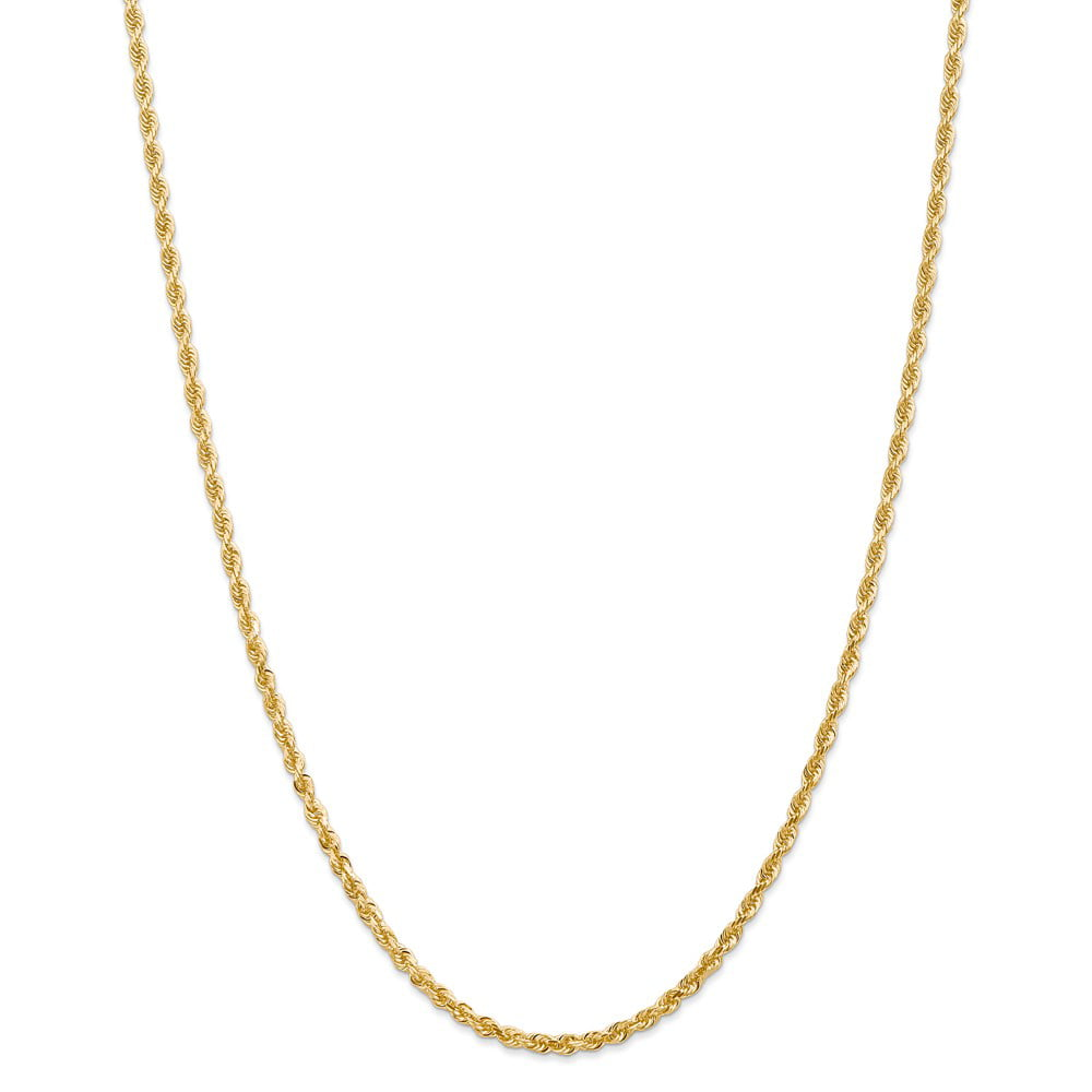 "14K Yellow Gold 3.0mm Diamond-Cut Quadruple Rope Necklace Chain -22"" (22in x 3mm) by"