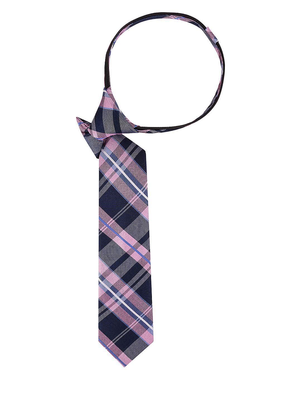 Boy's Large Natte Plaid Silk Slim Tie