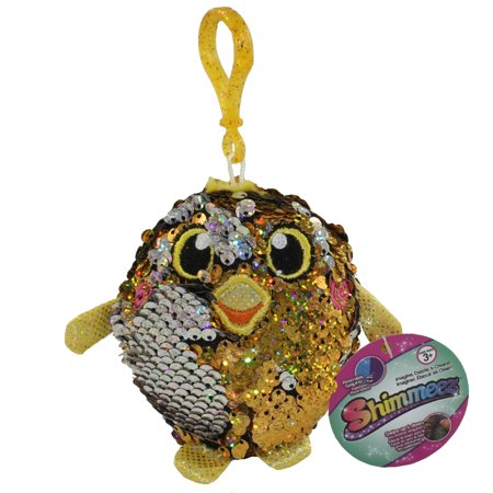License 2 Play - Shimmeez Sequin Plush - CHICK (Yellow & Silver)(Plastic Key Clip - 3.5 inch)