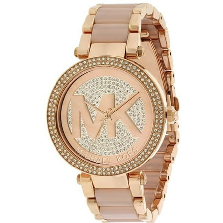 b2f9fdd763e8 Michael Kors - Parker Rose Gold-Tone Ladies Watch MK6176 - Walmart.com