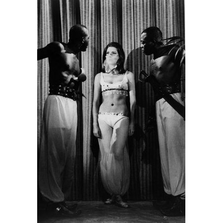 Diana Rigg in The Avengers in belly dancer outfit and veil 24x36 Poster - Gogo Dancer Outfits