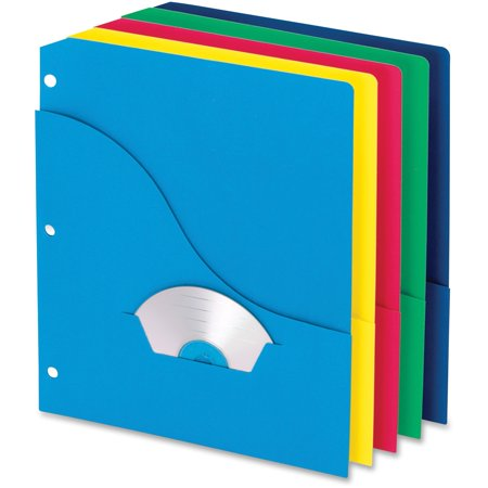 Cline Deluxe Vinyl Project Folders - Pendaflex, PFX32900, 3-Hole Wave Pocket Project Folders, 10 / Pack, Blueberry,Ice,Lemon,Lime,Strawberry