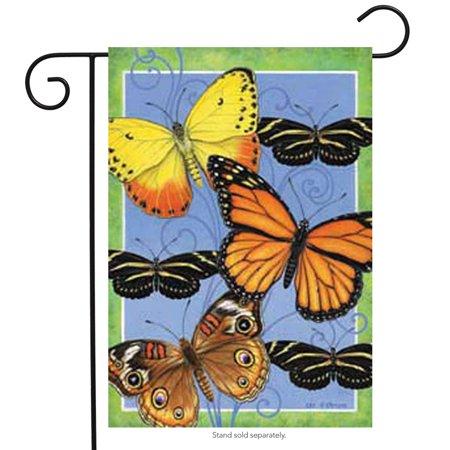 Butterflies Flight Spring Garden Flag Decorative Butterfly Yard Banner 12