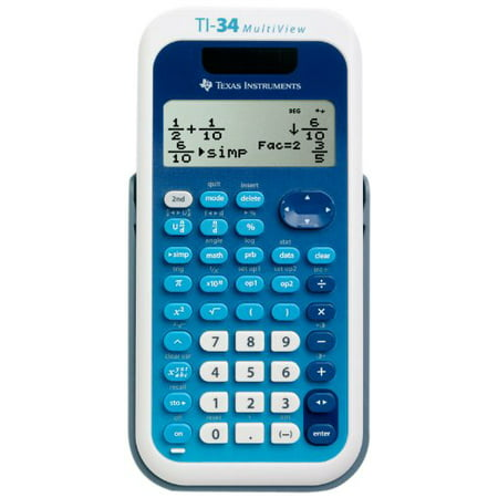 Texas Instruments TI-34 MultiView Scientific Calculator - Walmart.com