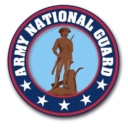 3.8 Inch Army National Guard Vinyl Transfer Decal
