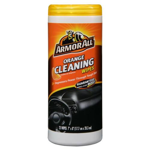 Armor All Cleaning Wipes, Orange 25 ea (Pack of 2)