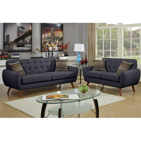 Phenomenal Bobkona Sonya Linen Like Polyfabric 2 Piece Sofa And Loveseat Set Theyellowbook Wood Chair Design Ideas Theyellowbookinfo