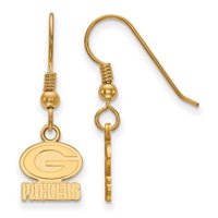 Green Bay Packers Gold-Plated Small Logo Dangle Earrings - No Size