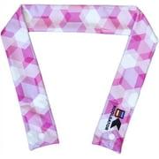 Best Cooling Scarves - KOOLGATOR Cooling Neck Wrap-Pink Geometric Design Review