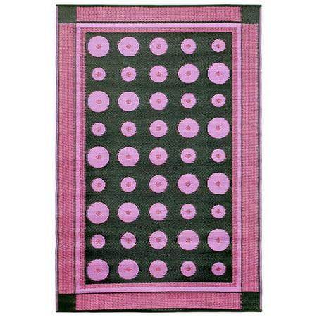 Koko K131 Floormat Dots, 4 X 6 Ft., Plastic, Berry. ()