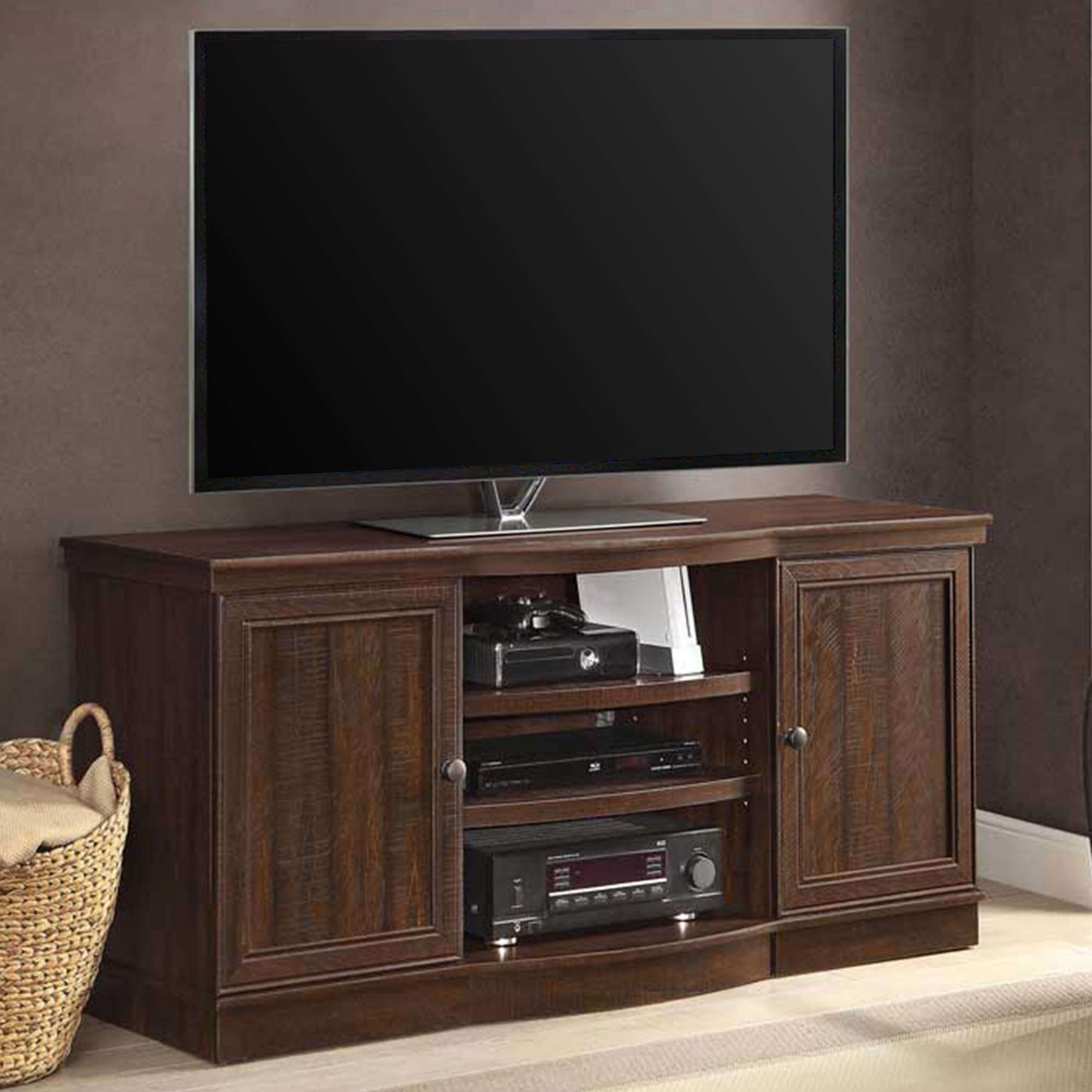 "Whalen TV Console for TVs up to 70"", Rustic Brown Finish"