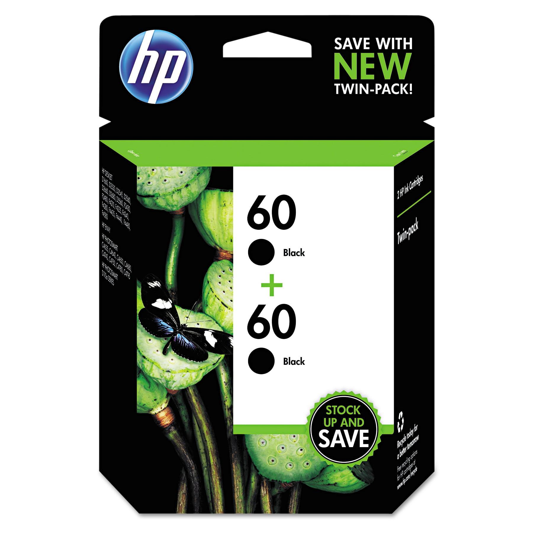 HP HP 60, (CZ071FN) 2-pack Black Original Ink Cartridges by HP