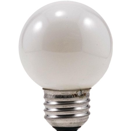 Sylvania 10297 Decorative Incandescent Lamp, 25 W, 120 V, G16.5, Medium Aluminum Screw,