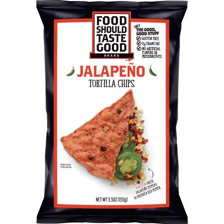 Tomato Jalapeno - Food Should Taste Good Jalapeno Tortilla Chips, 5.5 oz