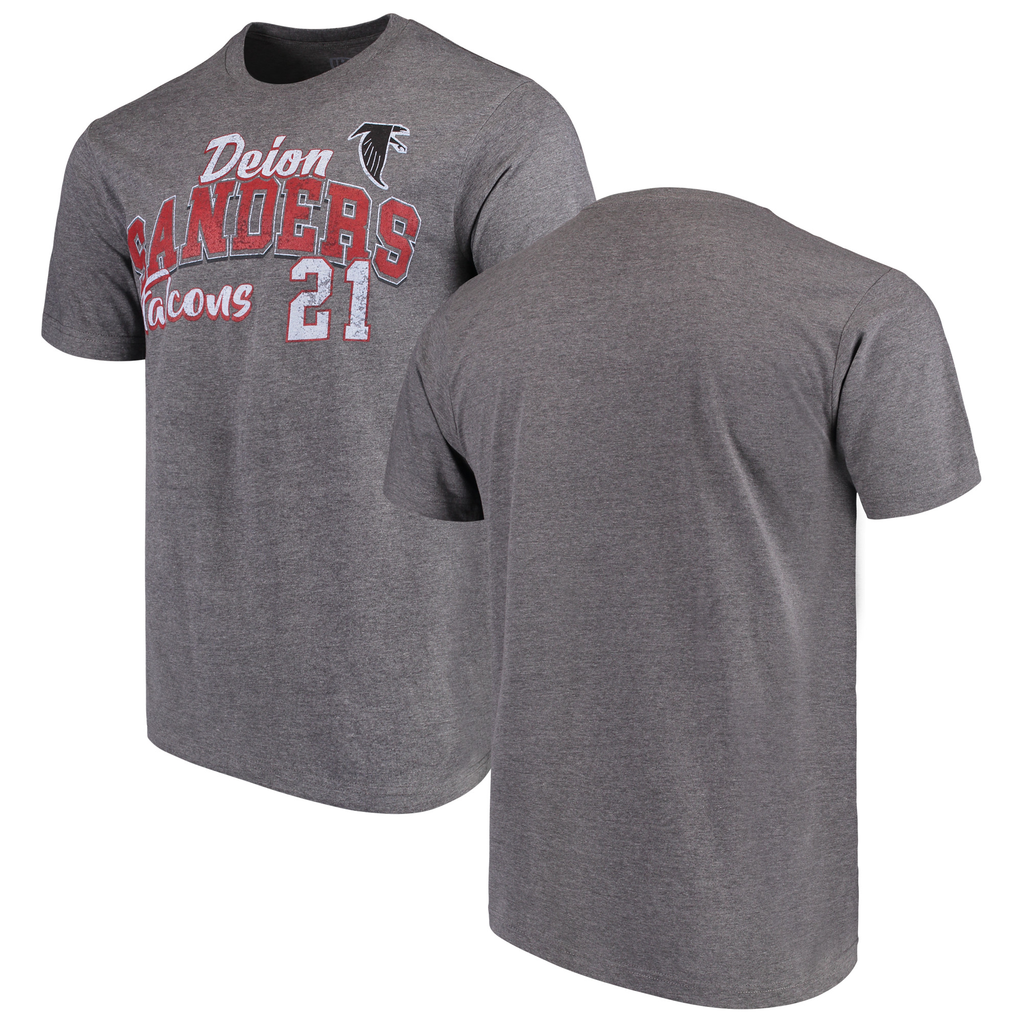 Deion Sanders Atlanta Falcons G-III Sports by Carl Banks Primetime Player Name & Number - NFL Greats T-Shirt - Graphite