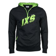 IXS Logan Casual Hoodie, Black/Safety Yellow, Size:XS